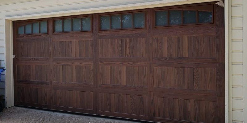 New Wood Garage Door Installation