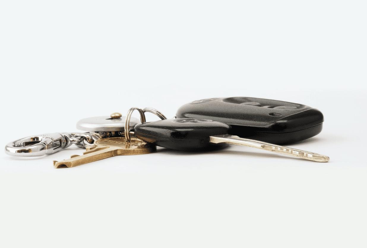 Image of garage door opener and keys